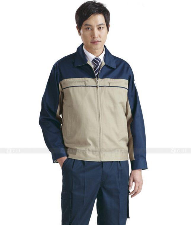 Dong phuc cong nhan GLU CN437 mẫu áo công nhân