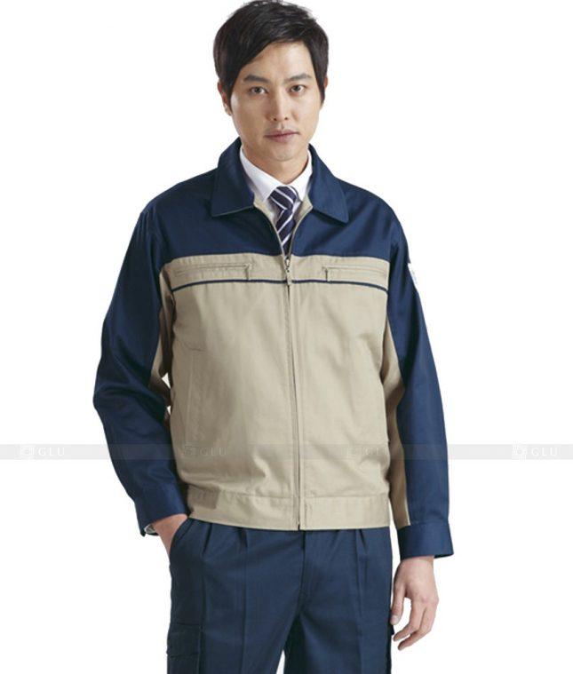 Dong phuc cong nhan GLU CN438 mẫu áo công nhân