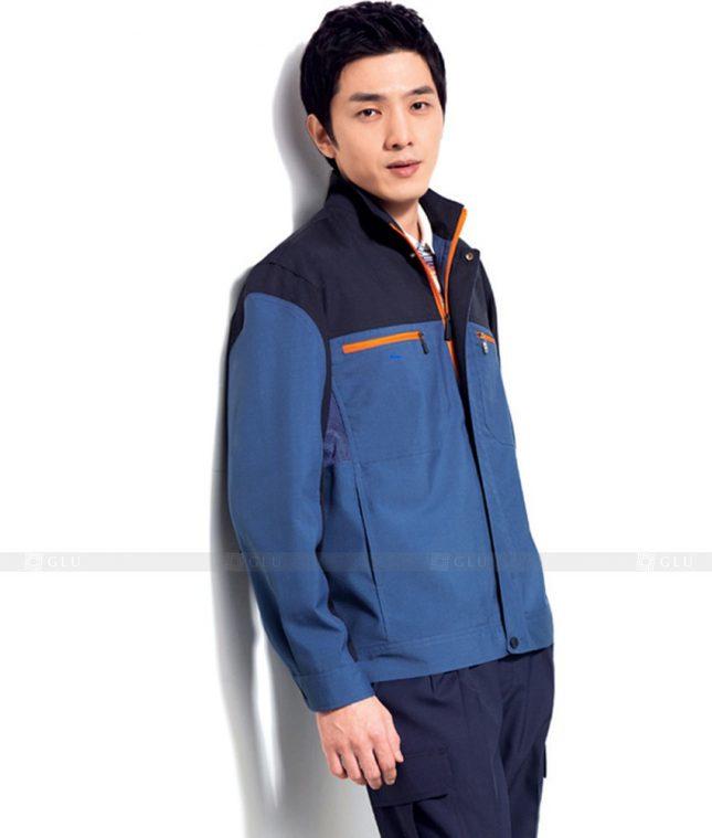 Dong phuc cong nhan GLU CN454 mẫu áo công nhân