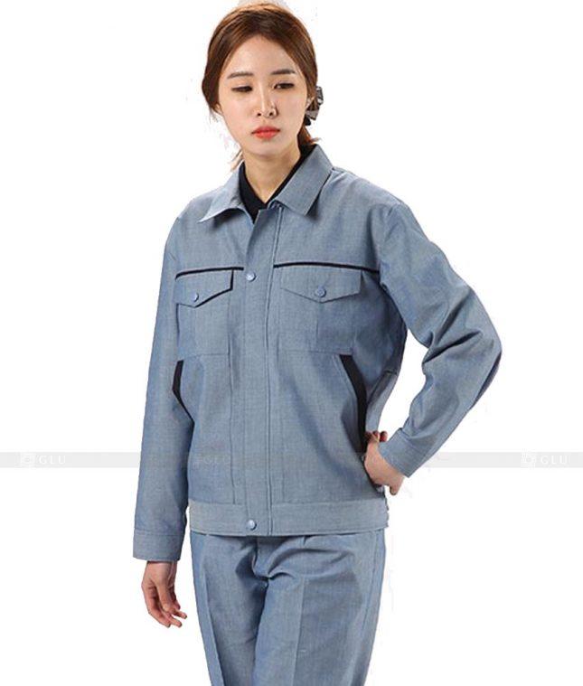 Dong phuc cong nhan GLU CN463 mẫu áo công nhân
