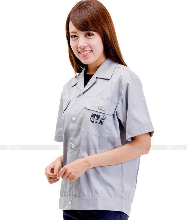 Dong phuc cong nhan GLU CN471 mẫu áo công nhân