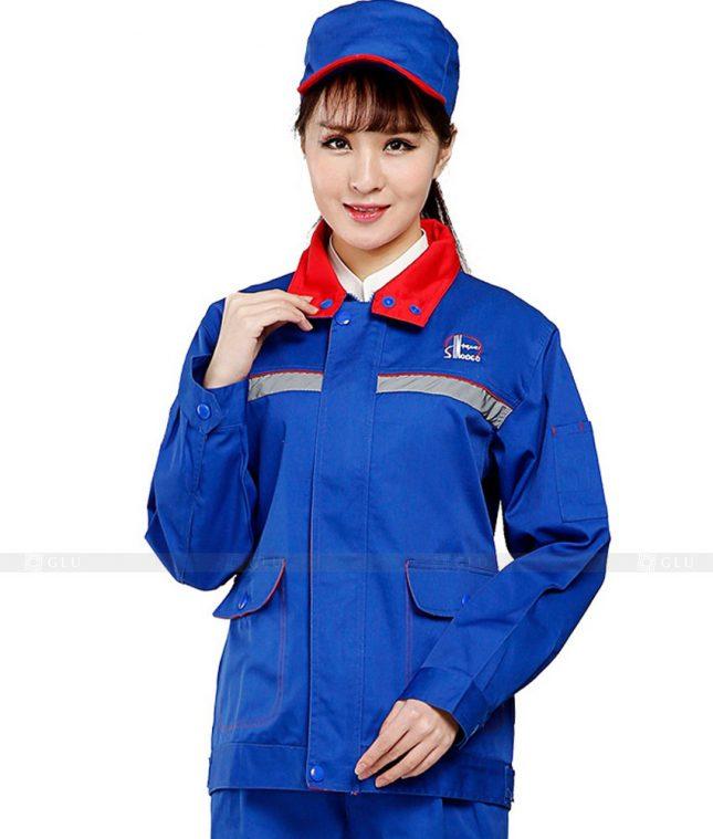 Dong phuc cong nhan GLU CN479 mẫu áo công nhân