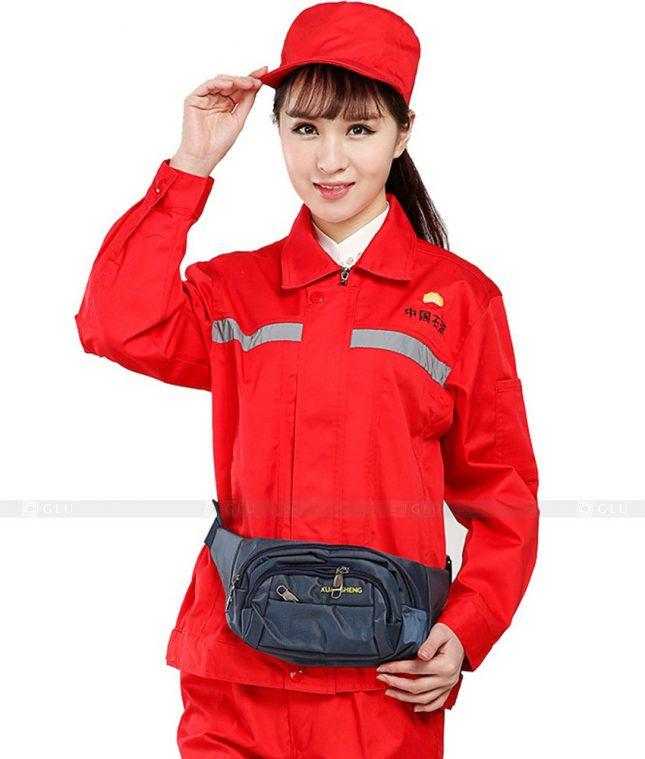 Dong phuc cong nhan GLU CN480 mẫu áo công nhân