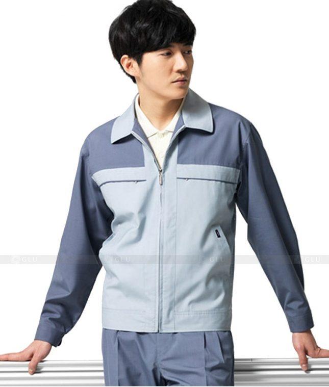 Dong phuc cong nhan GLU CN487 mẫu áo công nhân