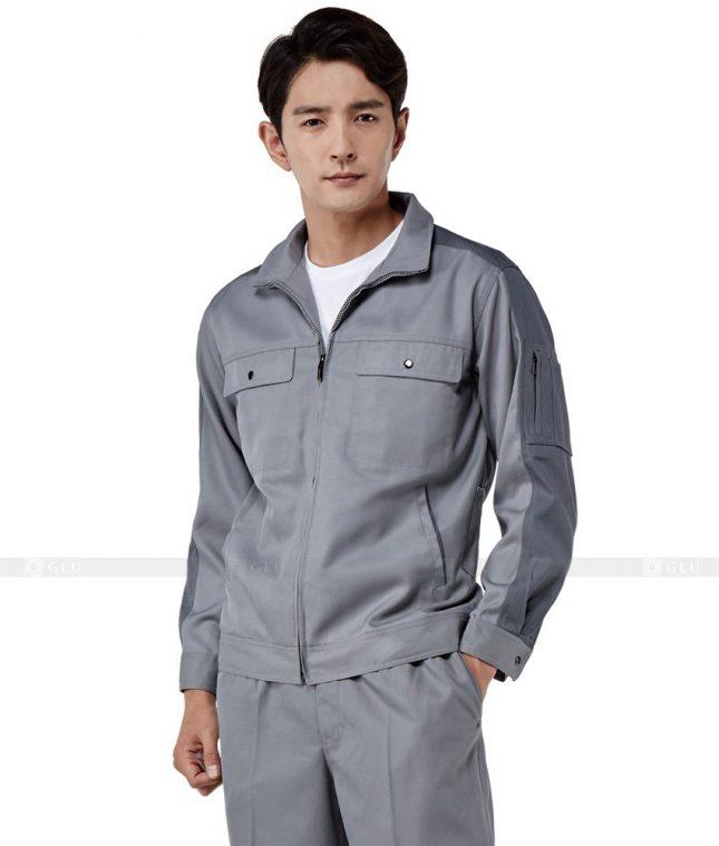 Dong phuc cong nhan GLU CN498 mẫu áo công nhân