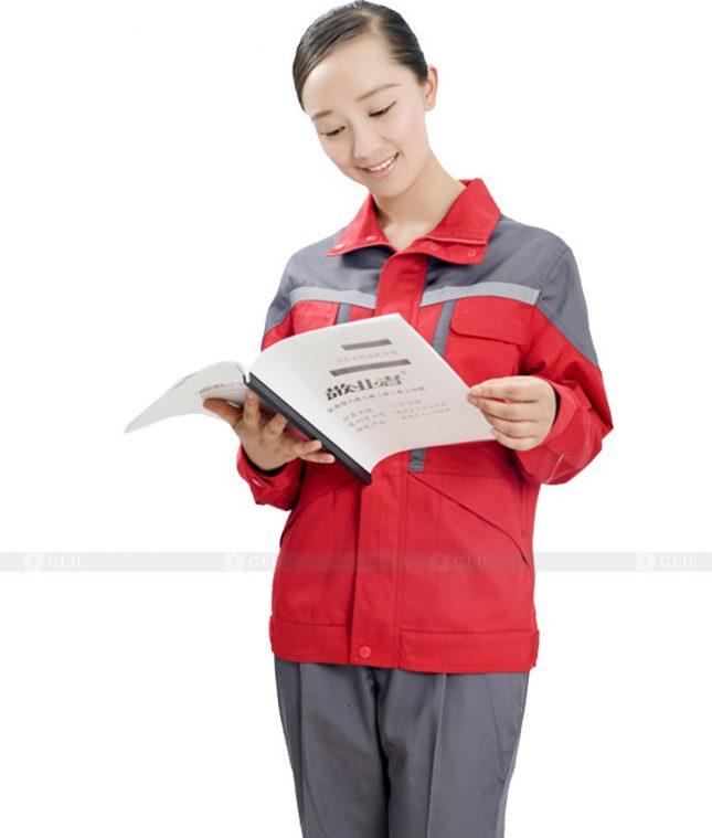Dong phuc cong nhan GLU CN607 mẫu áo công nhân
