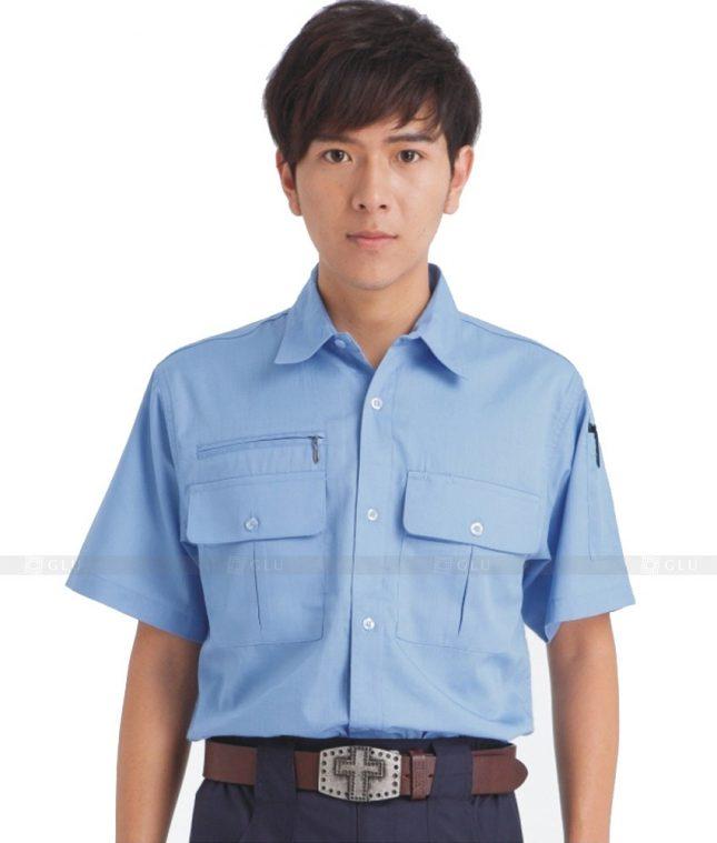 Dong phuc cong nhan GLU CN610 mẫu áo công nhân