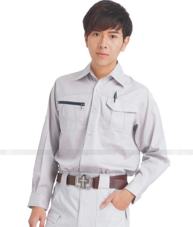 Dong phuc cong nhan GLU CN611 mẫu áo công nhân