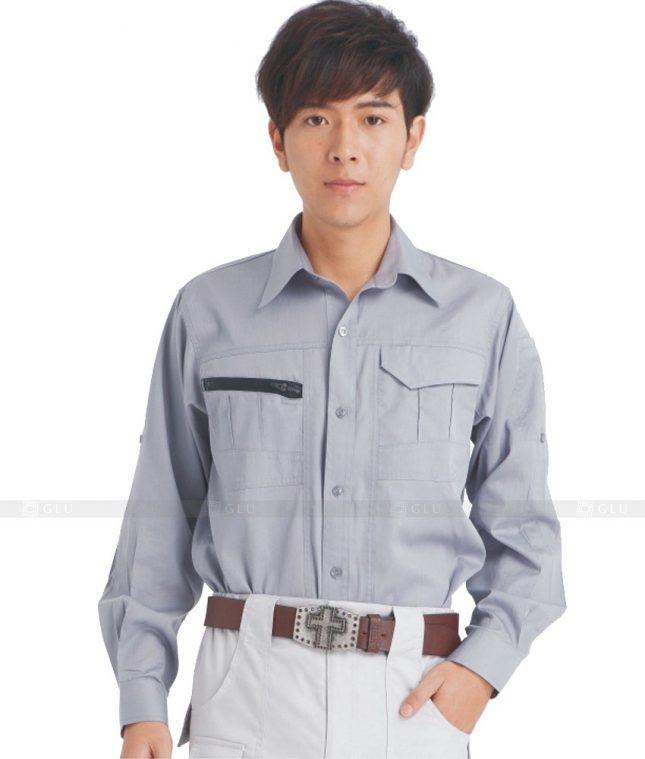 Dong phuc cong nhan GLU CN612 mẫu áo công nhân