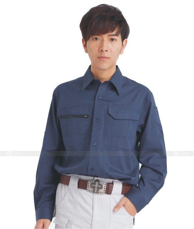 Dong phuc cong nhan GLU CN613 mẫu áo công nhân