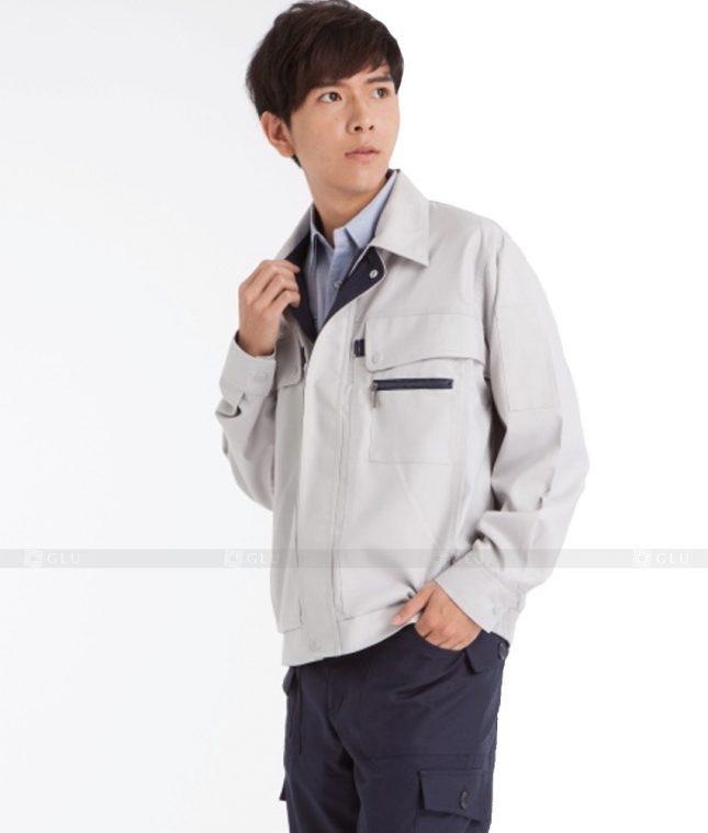 Dong phuc cong nhan GLU CN614 mẫu áo công nhân