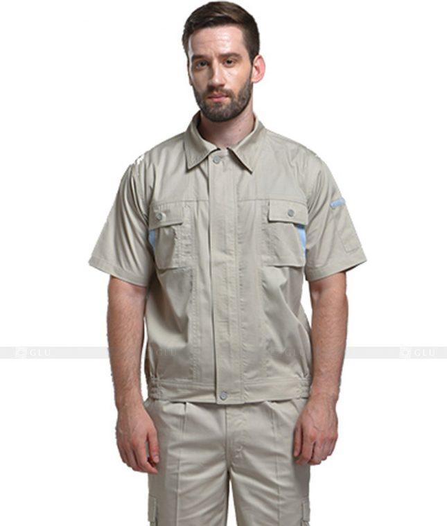 Dong phuc cong nhan GLU CN615 mẫu áo công nhân