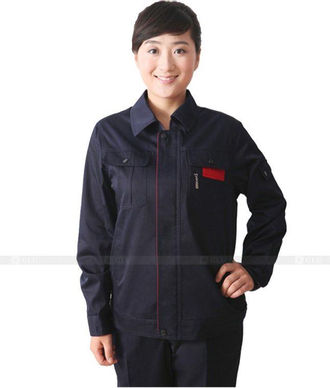 Dong phuc cong nhan GLU CN617 mẫu áo công nhân
