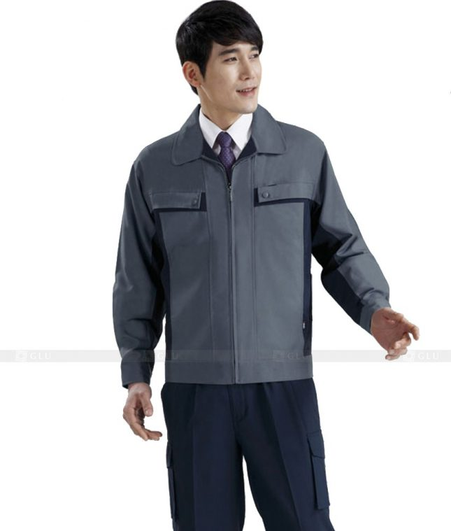 Dong phuc cong nhan GLU CN619 mẫu áo công nhân