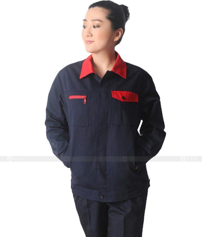 Dong phuc cong nhan GLU CN631 mẫu áo công nhân