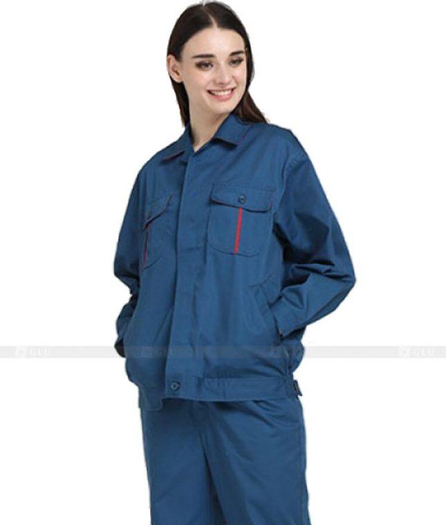 Dong phuc cong nhan GLU CN636 mẫu áo công nhân