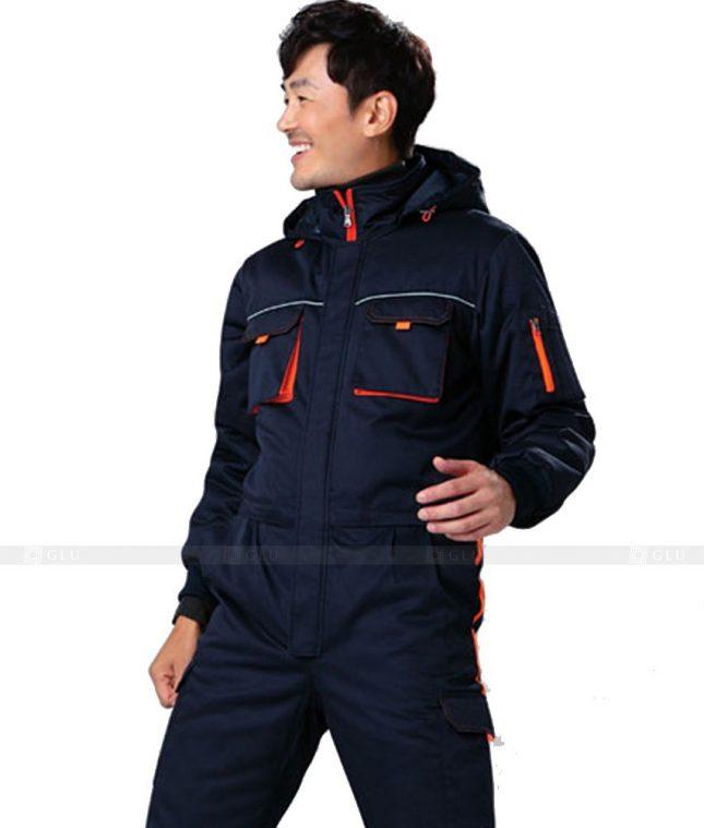Dong phuc cong nhan GLU CN637 mẫu áo công nhân
