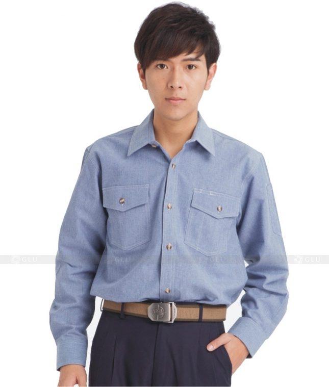 Dong phuc cong nhan GLU CN639 mẫu áo công nhân