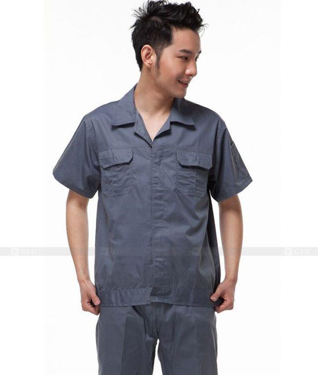 Dong phuc cong nhan GLU CN642 mẫu áo công nhân