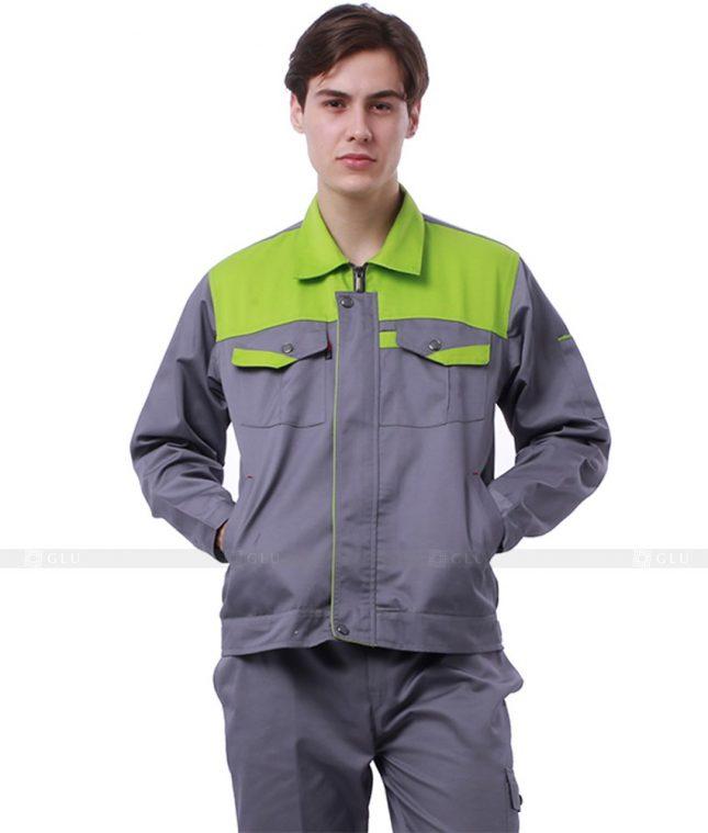 Dong phuc cong nhan GLU CN645 mẫu áo công nhân