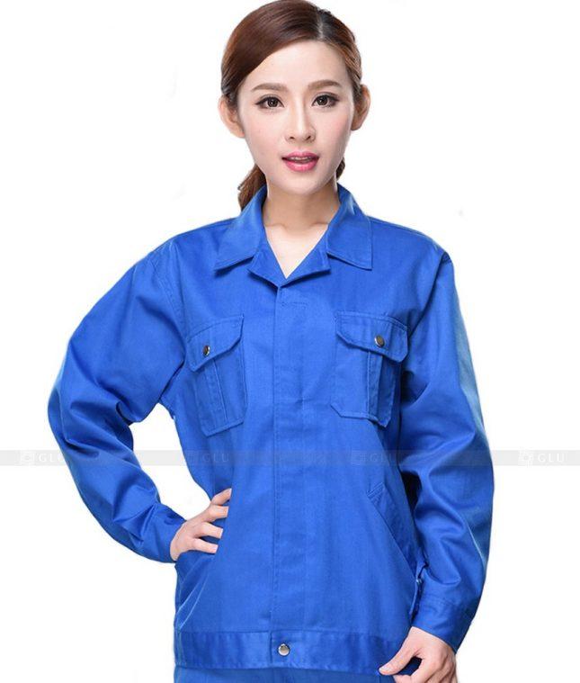 Dong phuc cong nhan GLU CN653 mẫu áo công nhân