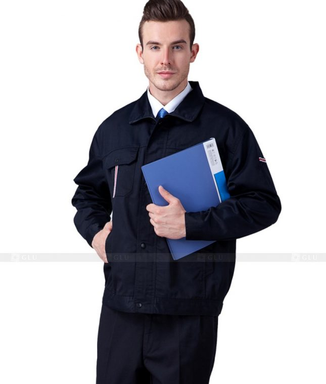 Dong phuc cong nhan GLU CN660 2 mẫu áo công nhân