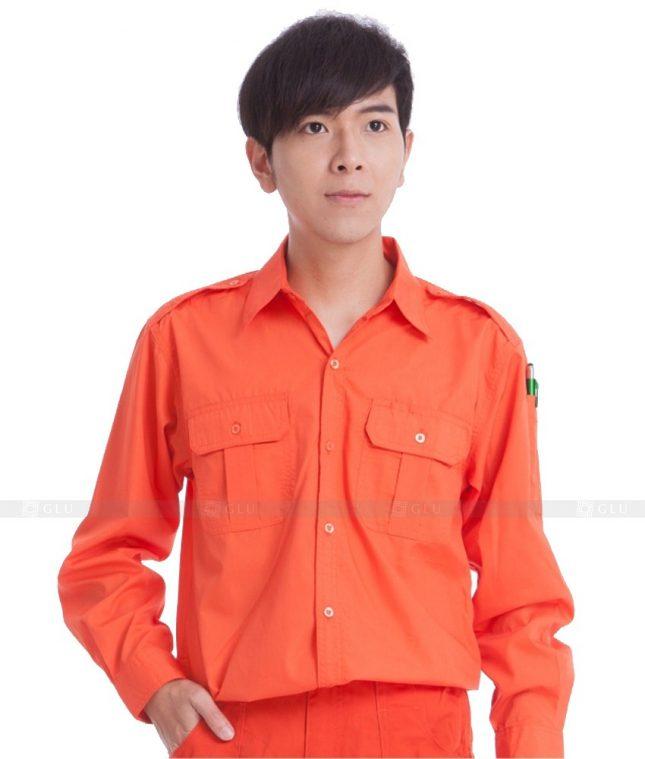 Dong phuc cong nhan GLU CN666 mẫu áo công nhân