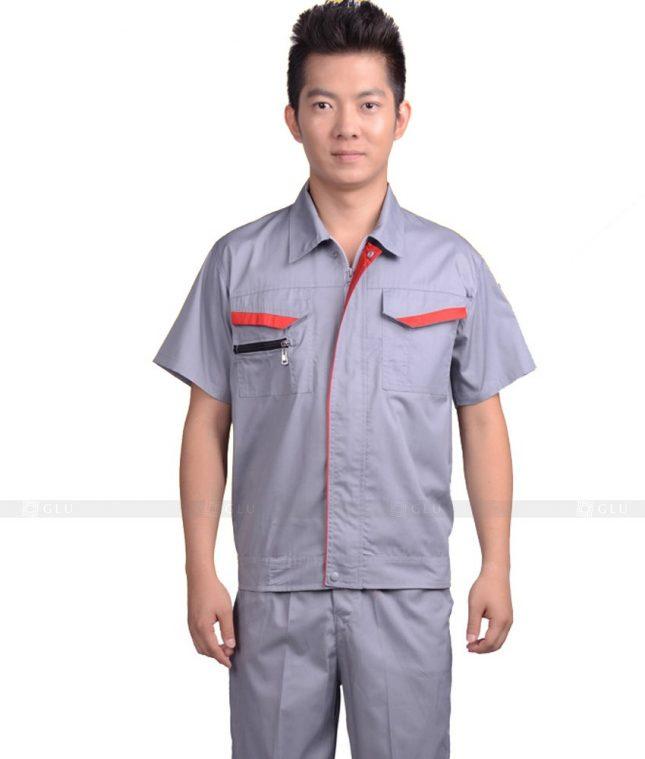 Dong phuc cong nhan GLU CN669 mẫu áo công nhân