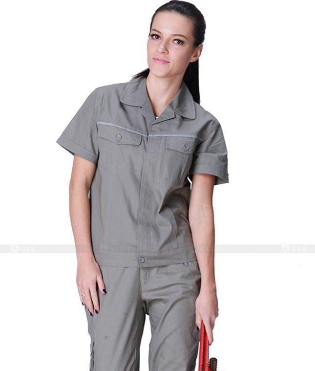 Dong phuc cong nhan GLU CN670 mẫu áo công nhân