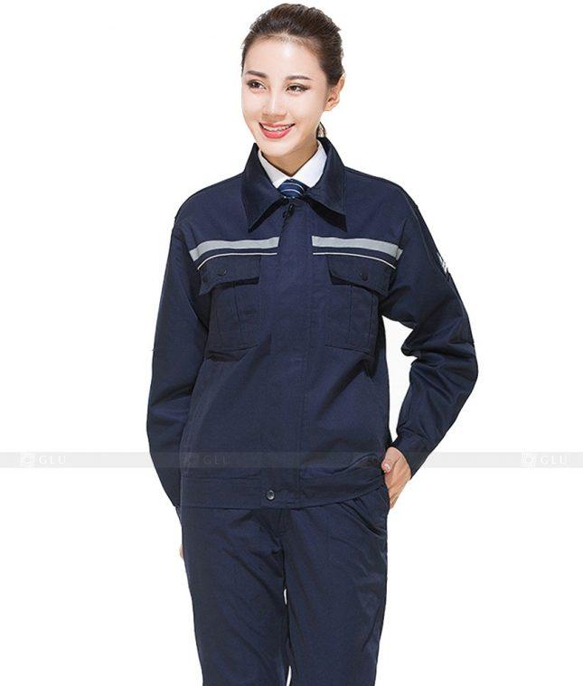 Dong phuc cong nhan GLU CN671 mẫu áo công nhân
