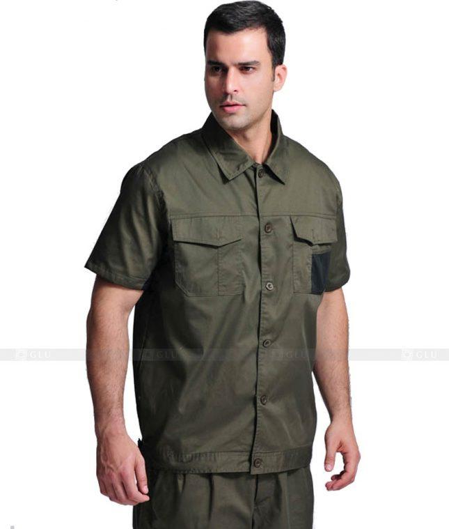 Dong phuc cong nhan GLU CN672 mẫu áo công nhân