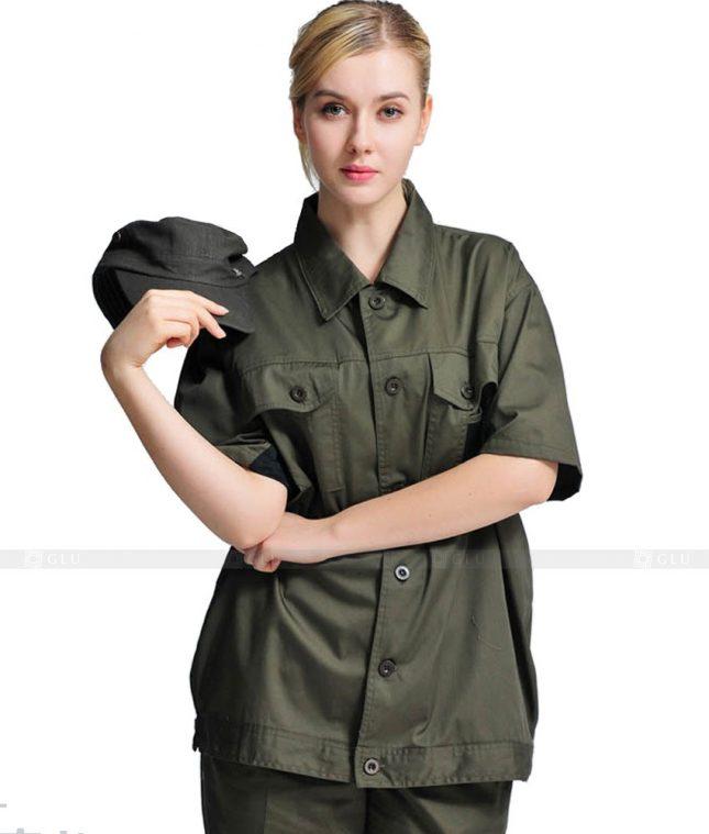 Dong phuc cong nhan GLU CN673 mẫu áo công nhân