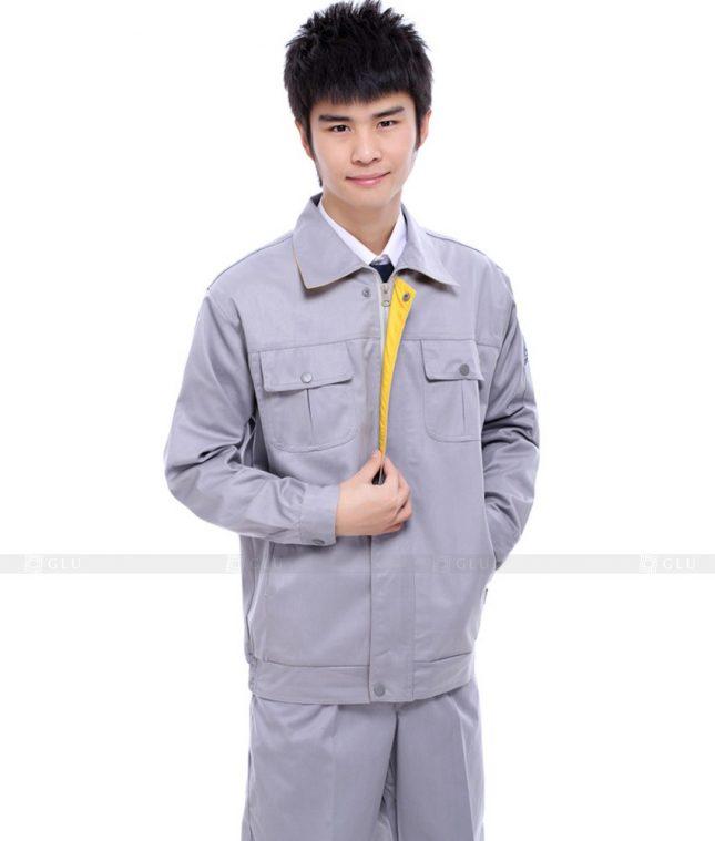 Dong phuc cong nhan GLU CN674 mẫu áo công nhân