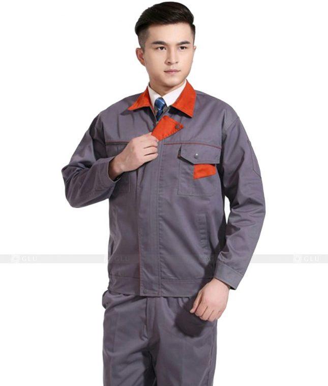 Dong phuc cong nhan GLU CN675 mẫu áo công nhân