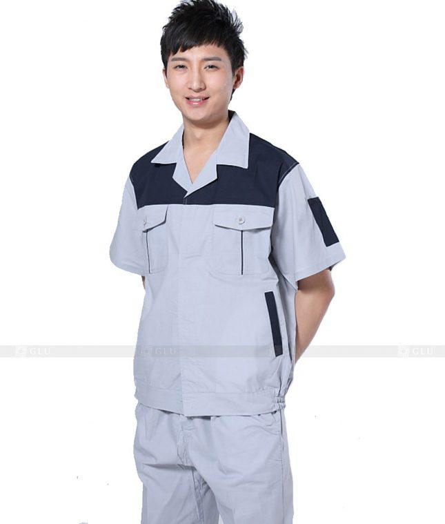 Dong phuc cong nhan GLU CN701 mẫu áo công nhân