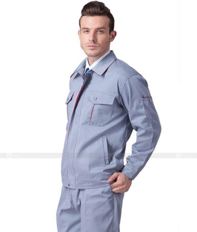 Dong phuc cong nhan GLU CN719 2 mẫu áo công nhân