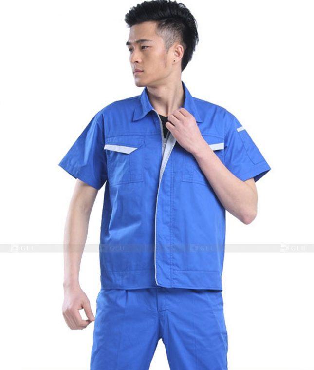 Dong phuc cong nhan GLU CN727 2 mẫu áo công nhân