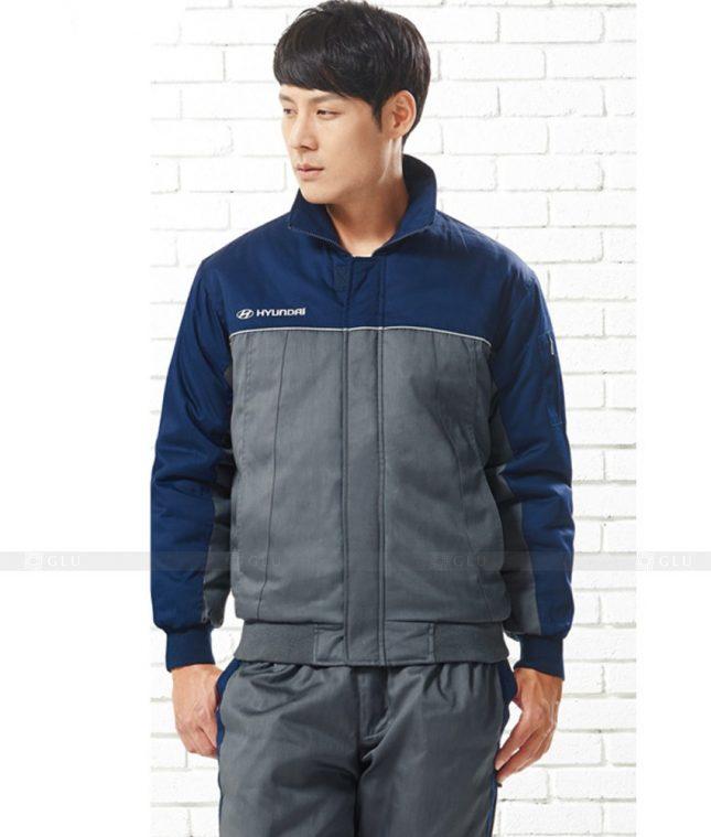 Dong phuc cong nhan GLU CN760 mẫu áo công nhân
