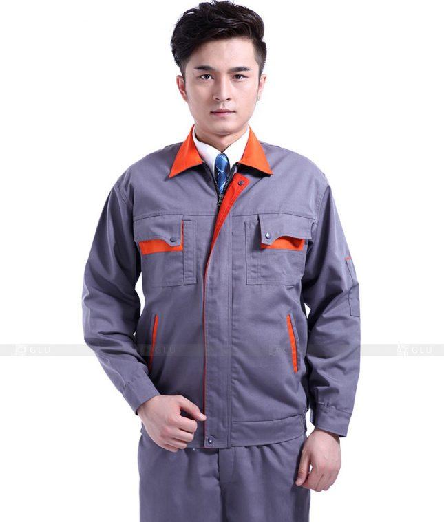 Dong phuc cong nhan GLU CN763 mẫu áo công nhân