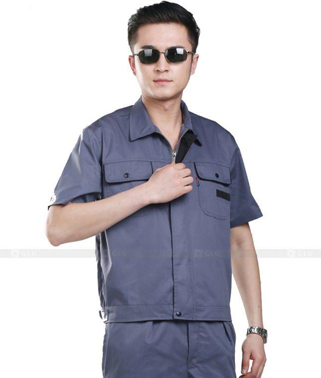 Dong phuc cong nhan GLU CN766 mẫu áo công nhân