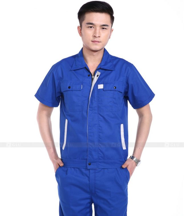 Dong phuc cong nhan GLU CN777 mẫu áo công nhân