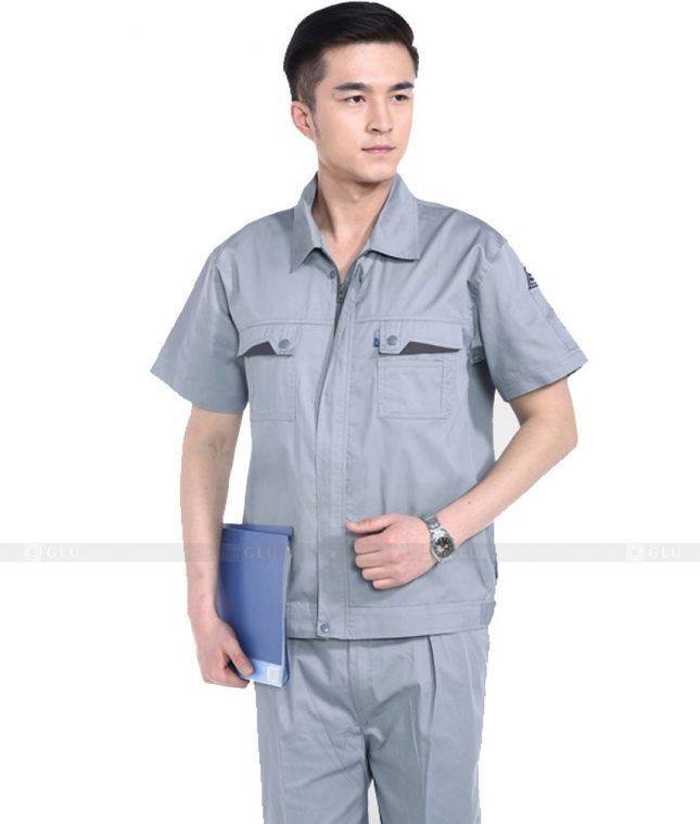 Dong phuc cong nhan GLU CN780 mẫu áo công nhân