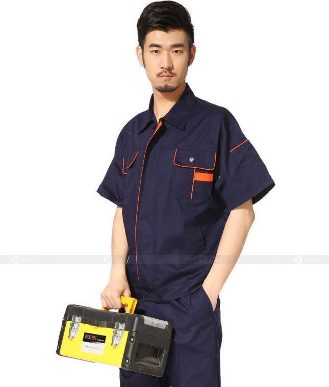 Dong phuc cong nhan GLU CN785 2 mẫu áo công nhân