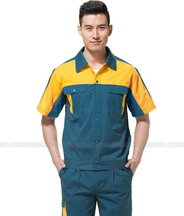 Dong phuc cong nhan GLU CN789 mẫu áo công nhân