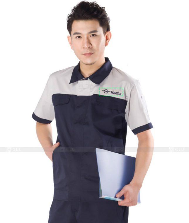 Dong phuc cong nhan GLU CN791 mẫu áo công nhân