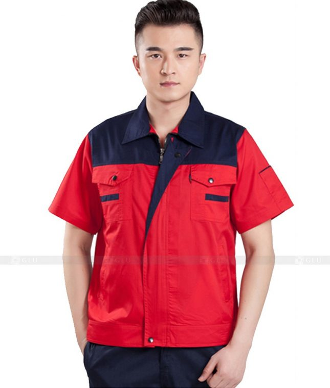 Dong phuc cong nhan GLU CN803 mẫu áo công nhân