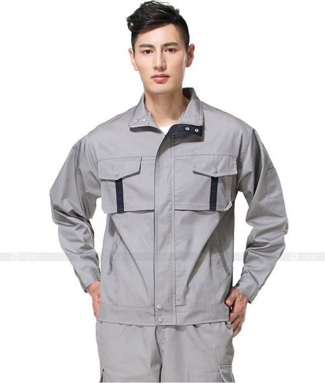 Dong phuc cong nhan GLU CN804 mẫu áo công nhân