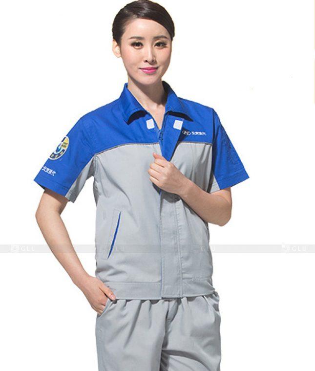 Dong phuc cong nhan GLU CN805 mẫu áo công nhân