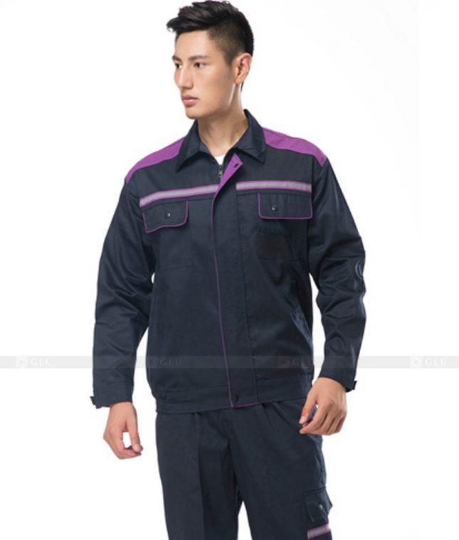 Dong phuc cong nhan GLU CN808 mẫu áo công nhân