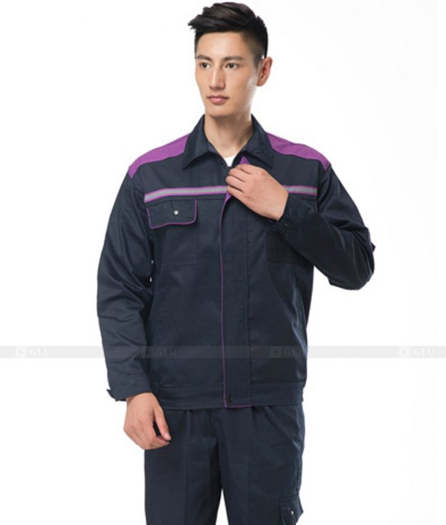Dong phuc cong nhan GLU CN808 2 mẫu áo công nhân